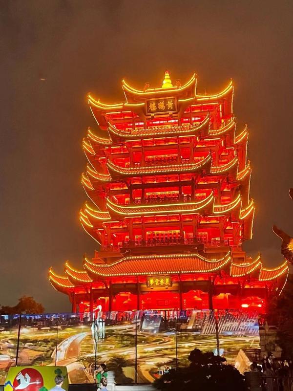 夜游武汉黄鹤楼,赴一场光与影的盛会