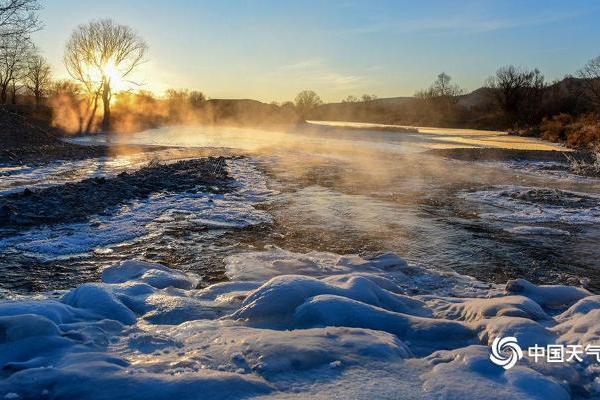 冬季雅鲁河水的三种相态美轮美奂