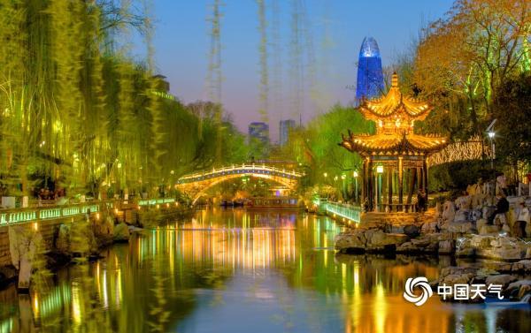 泉城济南春色美如画卷