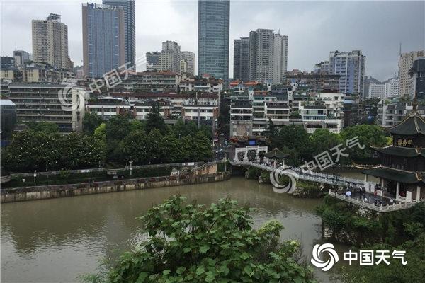 贵州昨日再现大暴雨  部分河流超警景区关闭