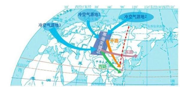"""专家解读冷空气趋势 寒潮来袭中东部气温""""大跳水"""""""