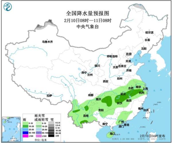 华北黄淮现雾霾 明起南方降雨明显