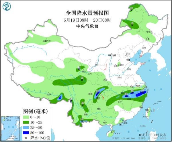 """长江中下游地区雨势强劲 华南开启""""蒸煮""""模式"""