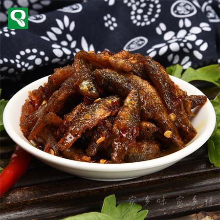 邮乐农家自制香辣豆豉小鱼仔    野味美食即食配