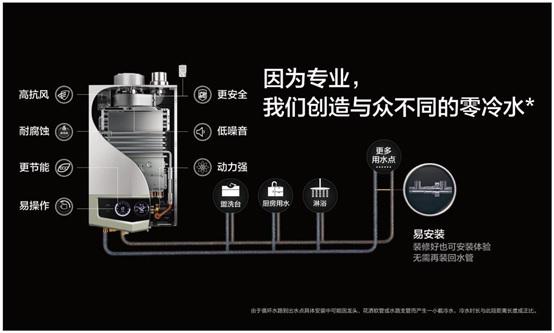 零冷水型防一氧化碳中毒燃气热水器结构图 这款燃气热水器的破局之作,凝聚众多行业顶尖黑科技。其一,突破安装障碍。A.O.史密斯零冷水型燃气热水器突破性的管路设计,让消费者无需重新开凿墙壁铺设回水管,也能立即安装体验洗浴零冷水,做到热水不等待;其二,突破户型障碍。搭载动力强劲的专业水泵能够带动超高扬程,支持100米当量长度水路循环,满足大户型公寓、复式、别墅等各种户型的用水需求;其三,美国专利防一氧化碳中毒。A.
