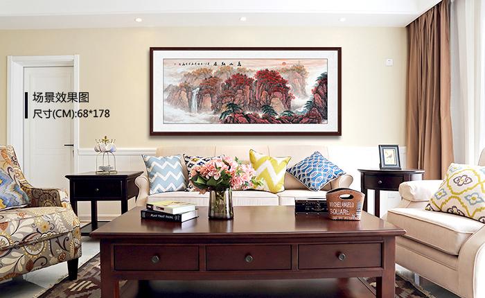 寓意超好的客厅背景墙装饰画攻略,收藏不谢