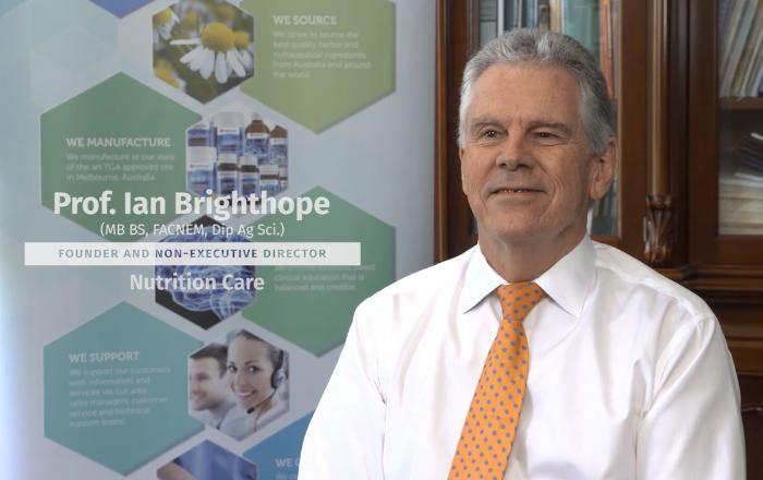 NC澳洲养胃粉创始人伊恩布莱特霍普教授讲述他对自然疗法的支持