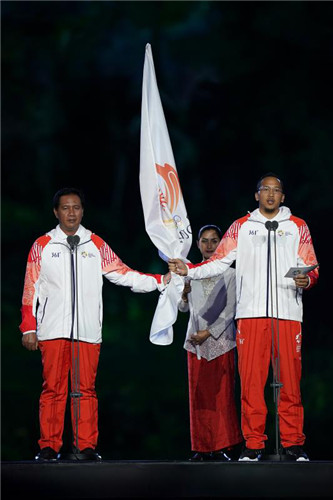 361°助力第18届亚运会在印尼首都雅加达开幕