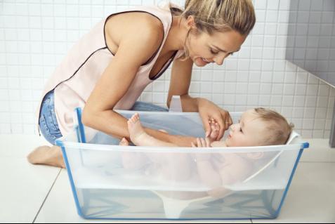 让宝宝爱上洗澡,Stokke折叠浴盆,开启婴儿浴盆3.0时代