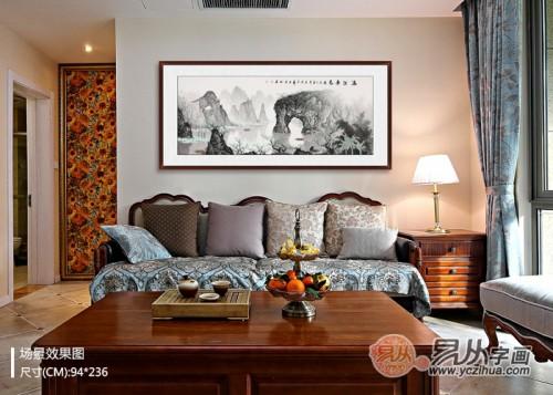 客厅挂上哪些装饰画效果好?喜闻乐见的风水与艺术的结合体
