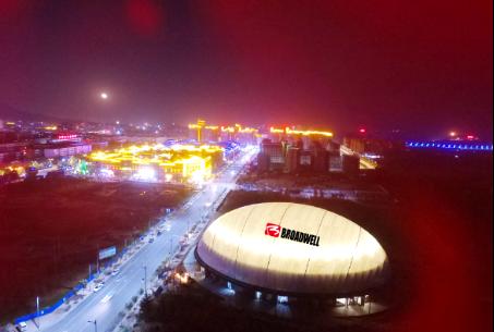 第十二届中国郑州国际少林武术节在登封气膜体育馆打响比擂赛
