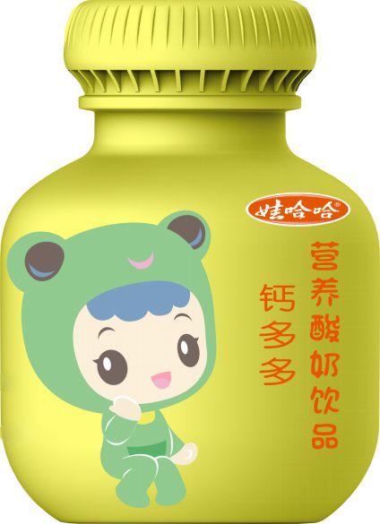 中南卡通与娃哈哈合作推出营养酸奶锌多多,钙多多图片