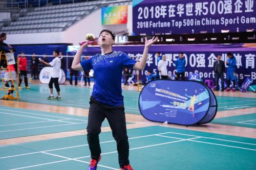 2018年在华世界500强企业羽毛球赛隆重开幕!
