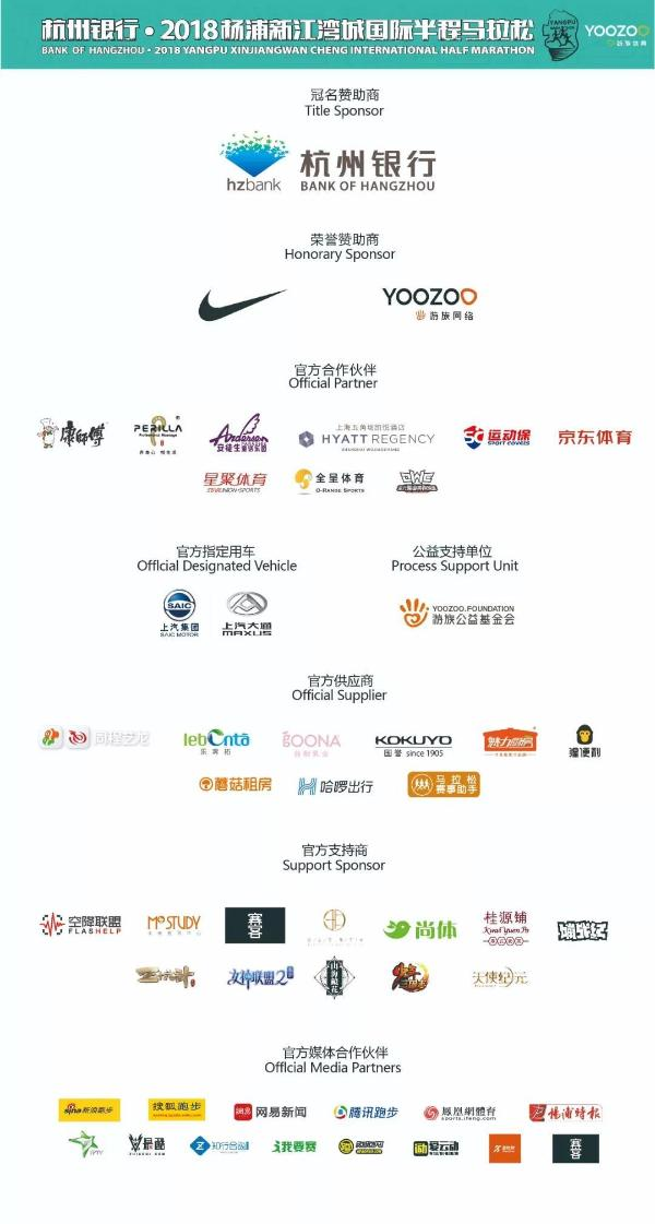 杭州银行·2018杨浦新江湾城国际半程马拉松