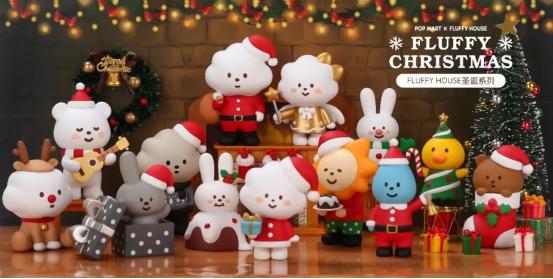 彩虹天使……fluffy house家族的小可爱们穿戴上圣诞装与你一起拥抱