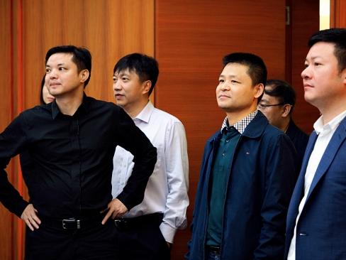 北京海淀区国资委领导莅临金一文化考察座谈