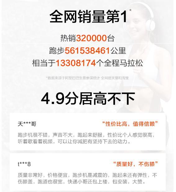 天猫今年销售霸榜的亿健跑步机,年底大放价开始了