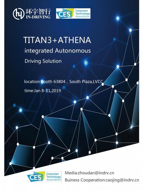bob首页:CES2019 环宇智行TITAN3自动驾驶域控制器征战美国
