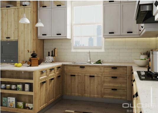 漂亮的木纹外观设计,用细节告诉你我乐橱柜质量怎么样