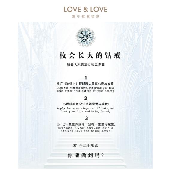 "LOVE&LOVE用""一枚会长大的钻戒"",让爱不止于承诺"