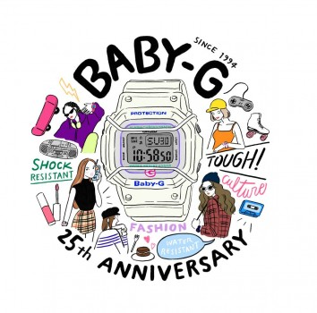 复刻经典 时尚街头! 卡西欧BABY-G 25周年纪念款引领复古时尚回潮