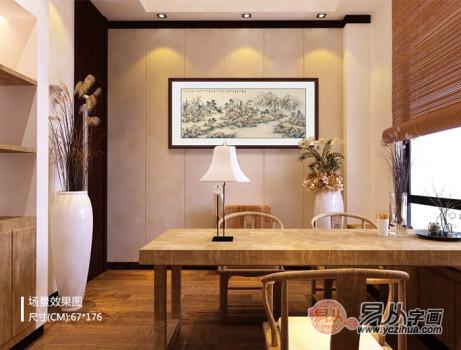 新中式客厅的最佳拍档 怎能少得了国画的典雅?