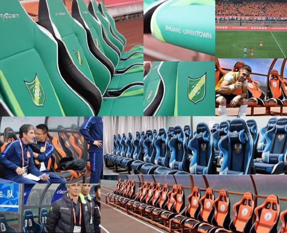 足球替补席座椅迪瑞克斯,为浙江绿城加油