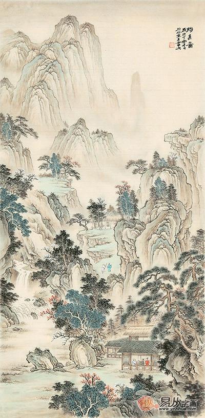 画家王宁临古仿古山水画作品赏析