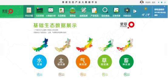 蒙草生态大数据参展数字中国建设峰会