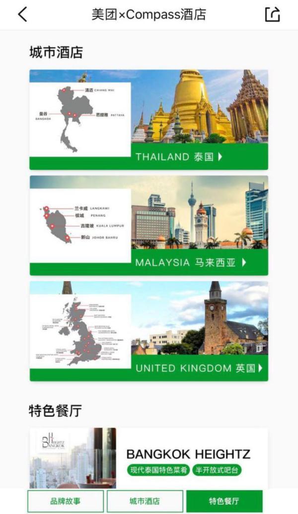 美团酒店与泰国Compass酒店集团达成战略合作