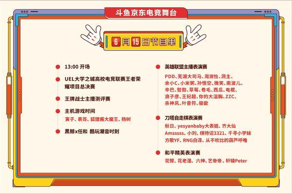2019斗鱼嘉年华开幕在即 京东电竞舞台上烽烟再起