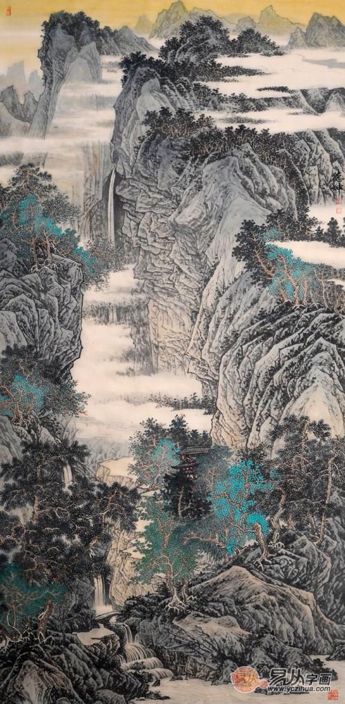令人叹服的名家写意山水画 林德坤画作欣赏