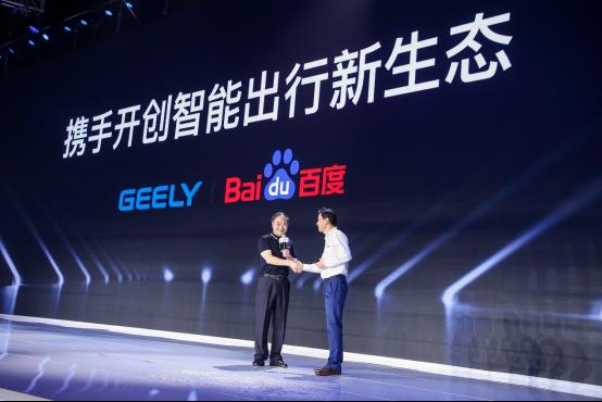 吉利首款云智能SUV开到Baidu Create 2019了!看李彦宏李书福小试GKUI19系统