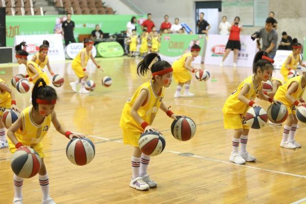 山东省首届少儿篮球操大赛落幕,喜旺助力儿童健康成长