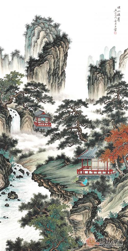 梦绕青绿山水 墨现祥瑞之气|中美协画家王宁青绿山水画欣赏