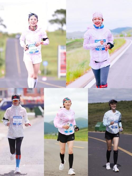 """中国首个女艺人跑团""""俪量""""完成""""越山向海""""185公里接力赛"""