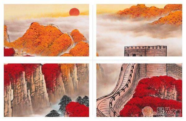 李林宏山水画《江山多娇》赏析,锦绣山河颇有韵味