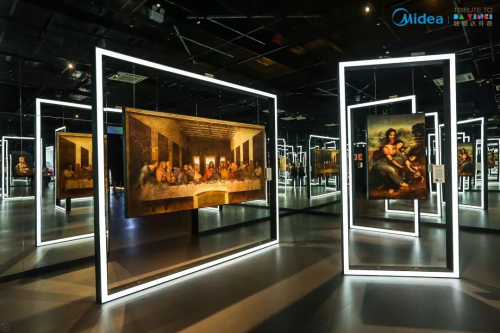 美学与科技的匠心碰撞——美的智能保鲜冰箱惊喜闪现达芬奇全球光影艺术展