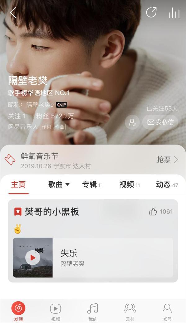 网易云音乐洽洽联合助推原创音乐传播 隔壁老樊新作37万票获最佳单曲
