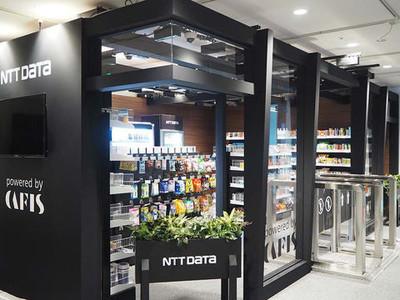 NTT数据推出无人收银店铺开店服务。可在店铺出口进行认证、支付