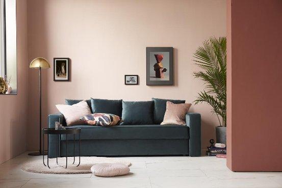 性感到骨子里的丝绒,样子生活莱茵收纳沙发打造欧式风情