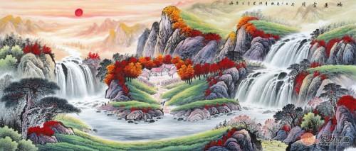 家居装饰画选什么?名人手绘山水画更耐看!