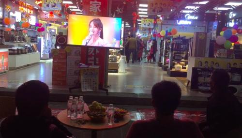 双十一苏宁零售云店组团观看苏宁狮晚,场面壮观