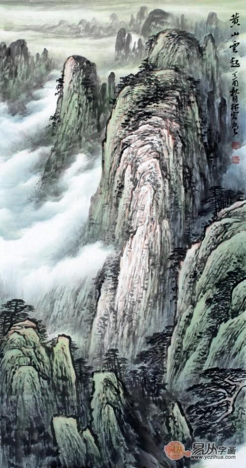 玄关挂画这样选,手绘山水美景,为您生活增光彩