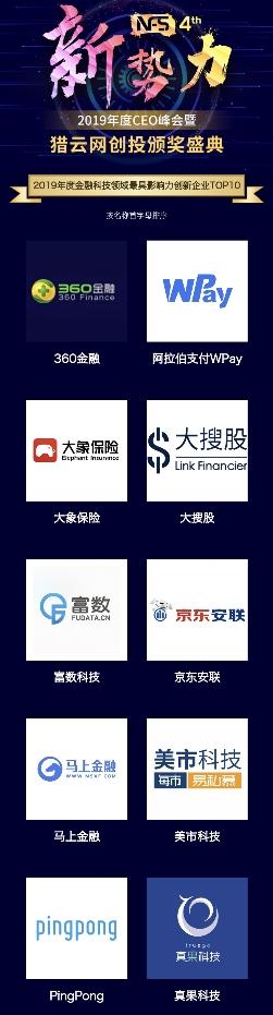 """大象保险荣获猎云网""""2019年度金融科技领域最具影响力创新企业""""奖项"""