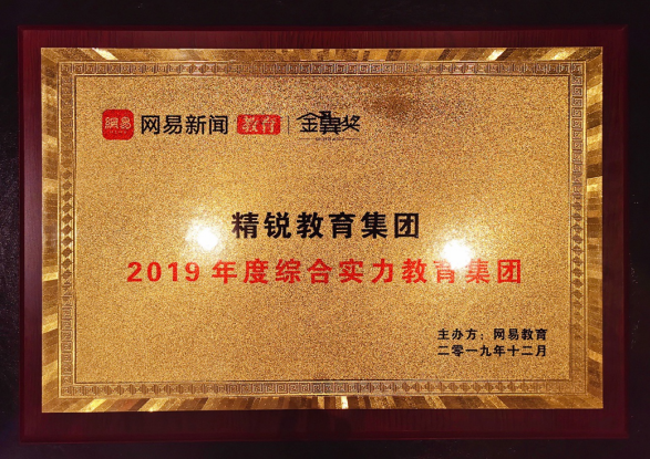 """精锐教育荣获网易教育""""2019年度综合实力教育集团""""大奖"""