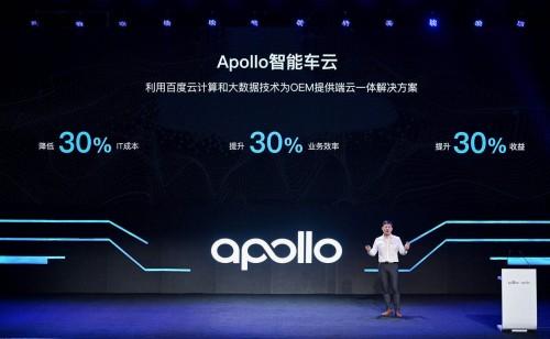 帮助OEM成本减30%、创收增30%:百度Apollo智能车云来了!