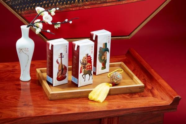 """三元故宫牛奶全新包装创意破壁,诠释""""国潮+""""概念大片"""