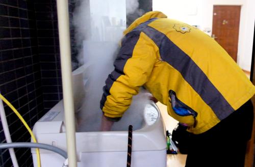 苏宁帮客升级家电清洗140度蒸汽消毒