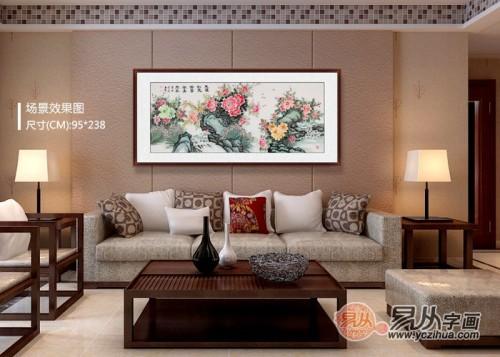 客厅里挂什么字画好,当代名家书画艺术为家添贵气